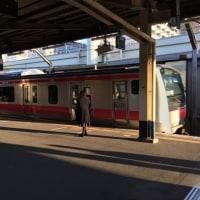 今千葉みなと駅です。電車で稲毛海岸に行きイオンマリンピアに行きます。