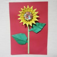 折り紙のひまわり