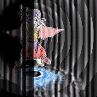 魔法少女のスリットアニメーション