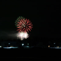 花火と夜景