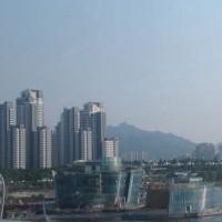 ソウル市外から金浦空港への途中の風景