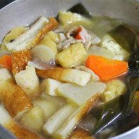 煮〆・菜花のおつゆ・卵の土鍋焼き・・・朝餉