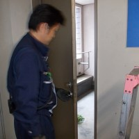 消防用設備定期点検作業