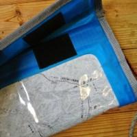 タブレットの防水ケースを大きめのマップケースに改造
