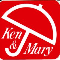 日産スカイライン ケンメリのステッカー Ken&Mary グッツ
