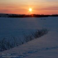 平野に昇った朝陽