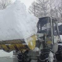 雪かき白馬、、