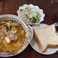 昼飯。キムチ鍋です。いただきます。