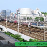 浜松駅を通過する貨物列車 (2017年5月)