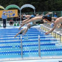 県高体連水泳競技大会第1日目スタート!