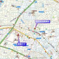江古田駅界隈の散策 その1 (東京都練馬区) 東京で一番短い川がある武蔵大学