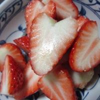 ハート苺と桜もち