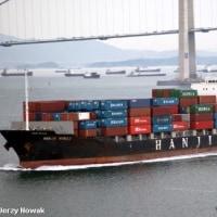 衝突現場から逃げた後に拘束されたコンテナ船  中国