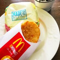 朝ご飯は、ソーセージマフィンのセット(Mac 36号恵庭店)