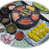 孫の誕生日・・手巻き寿司。