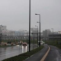 雨の旭川(数日前)