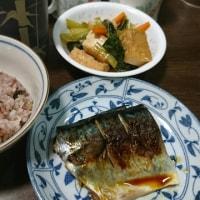「昨日の晩御飯」!!「サバの塩焼き」!!