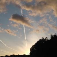 今日の夕焼け 雲模様