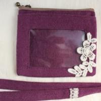 カードホルダー・紫&レースタグ