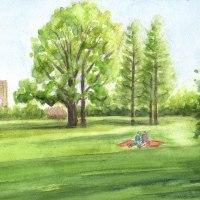 新宿御苑のイギリス庭園
