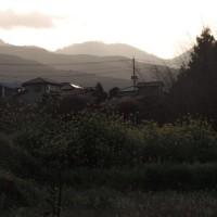今朝の富士と里山