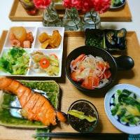 最近の夕食♪鮭の西京漬け定食♪バレンタインチョコ