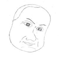 12月4日のチョコット似顔絵