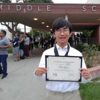 上の子のAward CeremonyでLong Beach Scholarsの賞をいただきました。