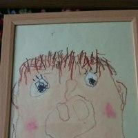 た~ぼちゃん 子どもの絵、、た~ぼちゃん3歳が書いたよ、、ほ~~~