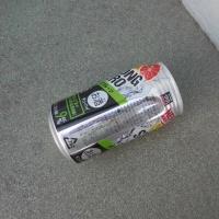 缶1個、たばこの空箱4個、収集、レジ袋でゴミ拾い&街美化と安全パトロール