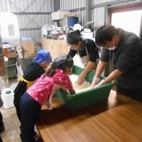 今年最初の「味噌作り教室」