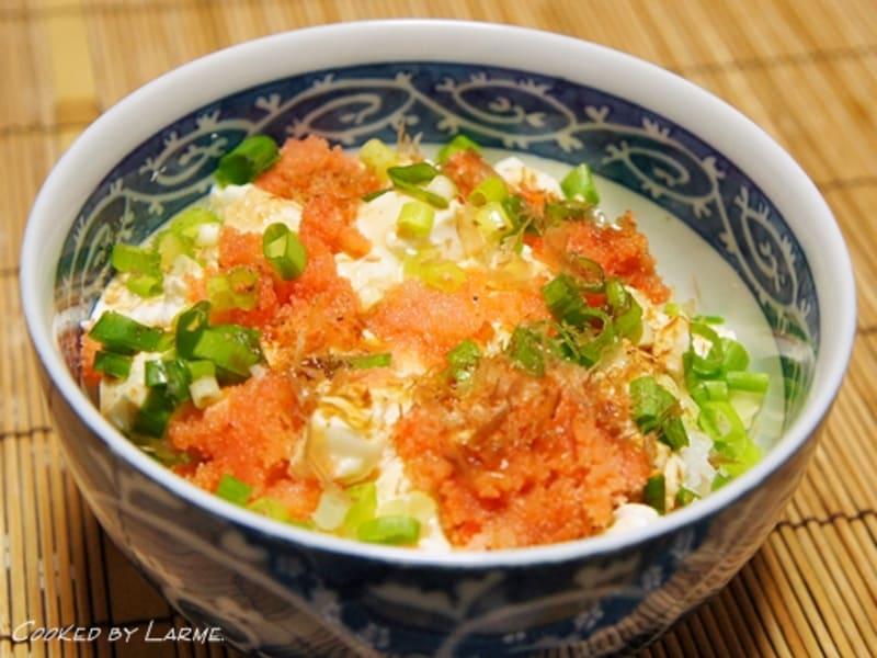 花のズボラ飯② 明太子豆腐丼 & お気に入りの節約どんぶりレシピ