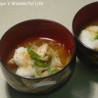 長芋と鶏ささ身の温麺