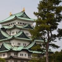 名古屋城・・金のシャチ・・光輝く