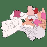 福島県の甲状腺がんマップ(201612)市部・3地域郡部別比較