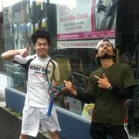 強風の湘南!雨も降り出した!テニス「JTPツアー2017(第7回)」で、遂に「ヤング」が初優勝!だ!