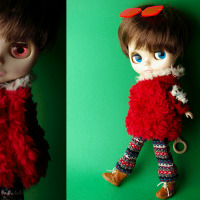 赤のファーコート・・・