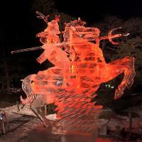 ★国宝松本城氷彫コンクール2017【ライトアップされた氷彫作品】