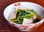 香りを楽しむレシピ~三つ葉のワサビ酢醤油和え~