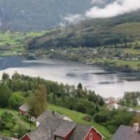 ウルヴィクの町が見えています。