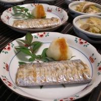 太刀魚の塩焼きと塩もみ蕪のワサビマヨ和え