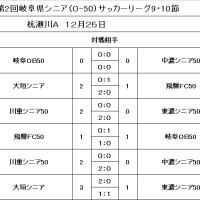 県シニアリーグO-50最終結果