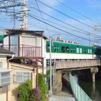 まち歩き伏0401  疏水と京阪電車