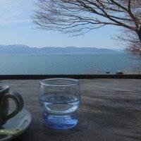 ブロンプトンで琵琶湖岸を走りました・・・本日も近江八幡。
