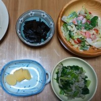 今日の朝食(6月25日)自家製野菜がタップリと