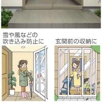 激安!玄関囲い(風除室)富山県高岡市~風除室の修理、風除室の新設~