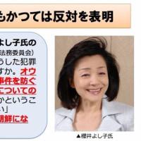 共謀罪は組織犯罪取り締まりの域を超えている by 櫻井よしこ