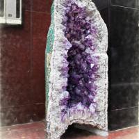 2016.10.04 西麻布7:路傍の巨大紫水晶!