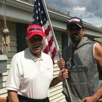 ◯ @SheriffClarke supporters-- My dad. Like father, like son,