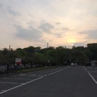早朝の福岡城址